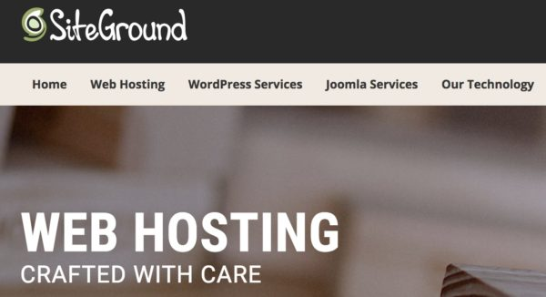 Site Ground Hosting Home Page